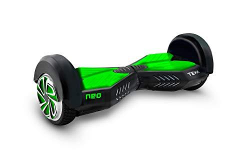 Itekk Hoverboard 8'' Neo con Bluetooth, Assicurazione AXA 'Tutela Famiglia' inclusa, Verde Fluo