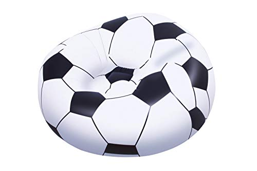 Bestway 75010 - Poltrona Pallone Calcio, 114 x 112 x 66 Cm