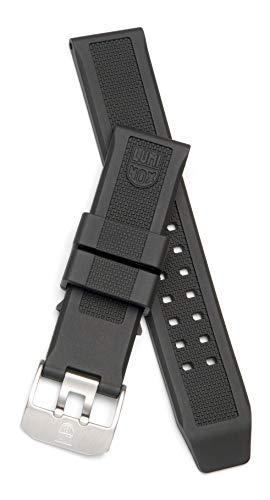 Luminox 3050, 3080, 3150 Cinturino di ricambio in silicone nero 23 mm