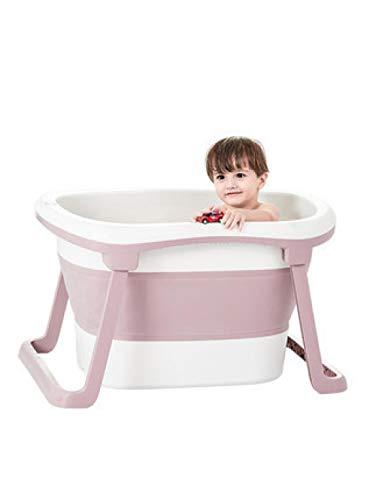 FLHLH Vasca da Bagno, seggiolone, Vasca da Bagno Pieghevole per Bambini, Vasca da Bagno per Bambini, Ecologico, Senza Odore, Blu