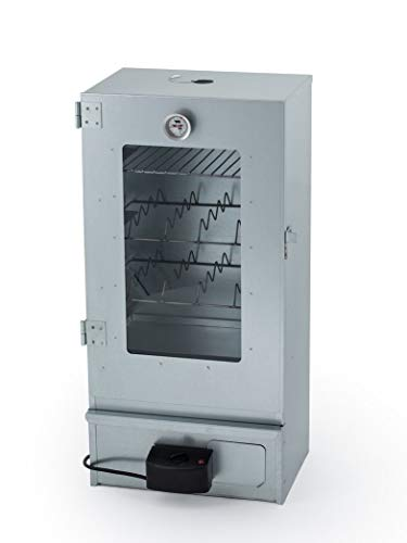 Euro Windkat GmbH - Affumicatore elettrico, zincato, con sportello in vetro