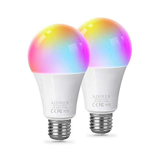 Lampadina Smart Funziona con Alexa e Google Assistant, AISIRER LED Lampadina Intelligente Luce WiFi...
