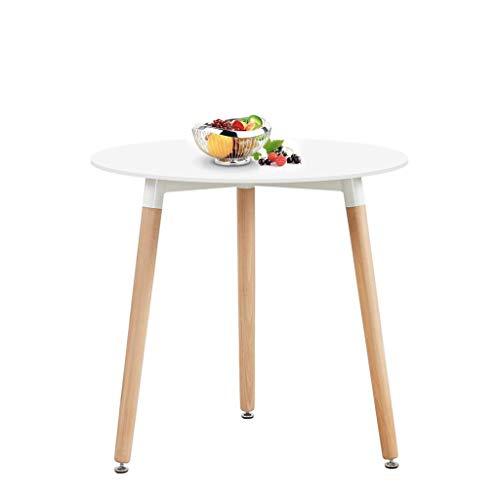 H.J WeDoo Tavolo da Pranzo Rotondo, Tavolo da Cucina in Stile Moderno con Gambe in Legno di faggio,...