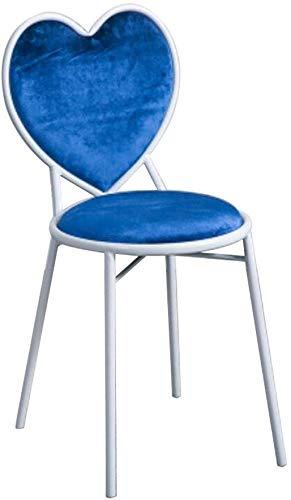 YLCJ Sgabelli da Bar, Sedia a Forma di Cuore seggiolone Schienale Sedia da toeletta Creativa Sedia da Bar Sedia da Ristorante sedie da caffè Sgabello da Camera 40 * 35 * 77cm (Colore: # 3)