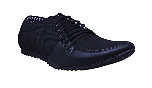 ESENSE Essence Men's Black Synthetic Shoes Laces Casual Shoes, 8