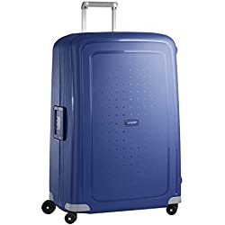 Samsonite S'Cure - Spinner 81 - 5 Kg Valise, 81 cm, 138 L, Bleu (Dark Blue)
