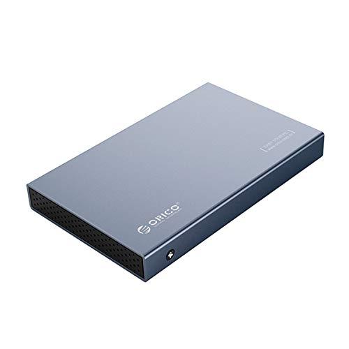Orico - Custodia in alluminio per hard disk SATA III SSD/HDD SATA III da 2,5', colore: Grigio