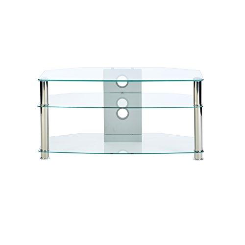 Jet MMT CL1000 - mobile porta tv in vetro trasparente - gambe cromate - per fino a 119,38 cm LCD/LED...