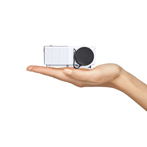 Zakk Mini UC-28 Portable Projector With USB And Inbuilt Speakers,White