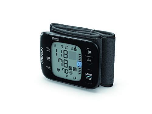OMRON RS7 Intelli IT Misuratore di Pressione da Polso con Connessione Bluetooth e Indicatore LED di...