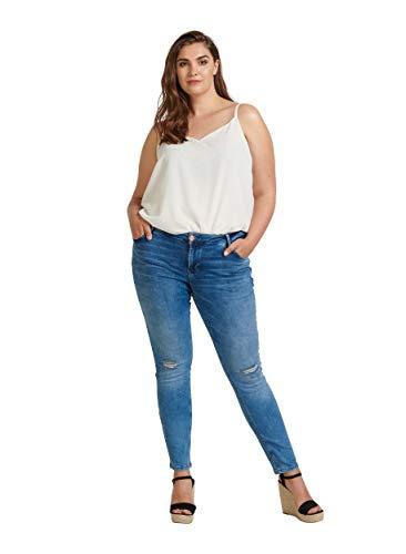 Zizzi Sanna Damen Große Größen Jeans Super Slim Fit Skinny...