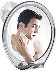 Fogless Shower Shave Mirror, BESTAID Fog Free Bathroom Mirror with Razor Holder, Strong Locking Suction, 360°Rotating No Fog for Easy Mirrors Viewing.
