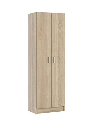 Fores Diseño s.l. Kawai S01 Armadio Multiuso, 58,5X37X180 H cm, Rovere Spazzolato, Melamina,...