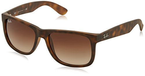 Ray-Ban Justin RB4165 - Gafas de sol Unisex, Marrón (Brown 710/13), 55 mm