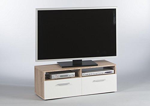 Stella Trading Rana TV - Mobile Basso in Rovere Sonoma/Bianco