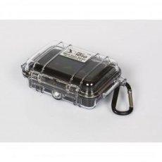 Peli 1010 Micro - Funda sumergible, color transparente y negro
