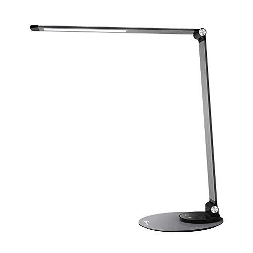 Lampada Scrivania Studio TaoTronics, Lampada da Tavolo LED 12W con 6 Luminosità + 3 Temperature di Colore - Grigio Argento