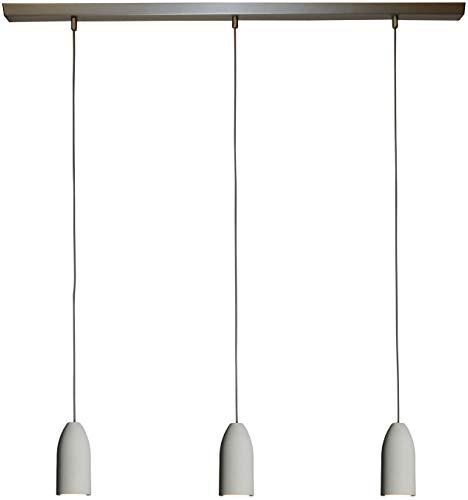 """Hänge-Lampe \""""light edition\"""" 3-Flammig Dimmbar, Textilkabel Grau (19 Farben), Deckenleuchte, Pendel-Leuchte Rund, GU10 Led, Esszimmer, 3er Hänge-Leuchte Esstisch groß, Esszimmerlampe, Pendellampe Deckenlampe Buchenbusch urban design"""