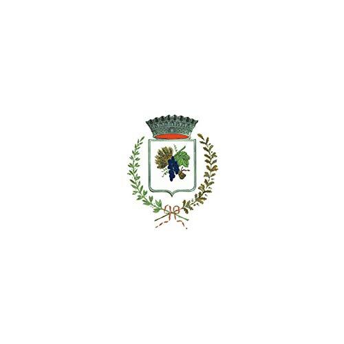 AL PRODUCTION Comune di Ghemme Mis. 150x220 Bandiera in Tessuto Nautico Confezionata con Corda E Guaina