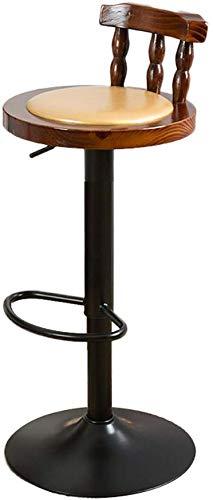 Sedia da bar in ferro retrò, sedia con schienale in legno Ristorante Seggiolone Caffetteria Sgabello alto Sedia elevatrice Sedia girevole da bar Sedie 60-80 cm Sgabello camera da letto (Colore: # 4)