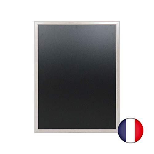 Lavagna da parete in legno colore grigio cerato dimensioni 86 x 66 cm - Fabbricazione francese