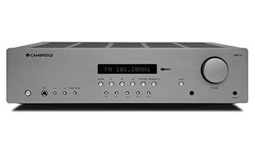 Cambridge Audio AXR85 FM/AM Stereo Receiver with Bluetooth, Built-in Phono Stage, 85W Per CH, Display Screen, Headphone Jack, Subwoofer Out, A/B Speaker Outputs, Aux in, Tone and Balance Control