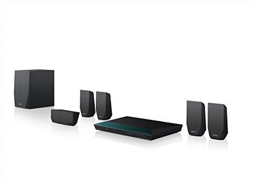 Sony BDV-E2100 Sistema Home Cinema 5.1 Canali, Potenza 1000W, Lettore Blu-Ray 3D, Wi-Fi, Bluetooth, NFC, Nero