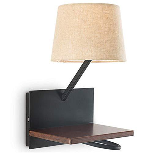 Lampada da parete a LED moderna e creativa Lampada da lettura con ricarica USB Set da parete in...