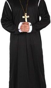 ATOSA disfraz cura hombre adulto sotana negra XL