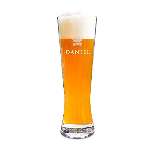 AMAVEL Weizenbierglas mit Gravur - Krone & Pfeil - Parent