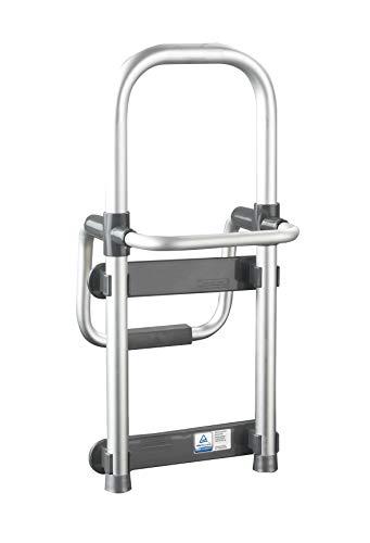 Wenko Badewannen-Einstiegshilfe Secura - verstellbar, 120 kg Tragkraft, 24,5 x 52,5 x 23 cm,