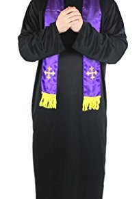 I Love Fancy Dress. ilfd4566X XL Hombre Disfraces de Sacerdote (2x -Large)