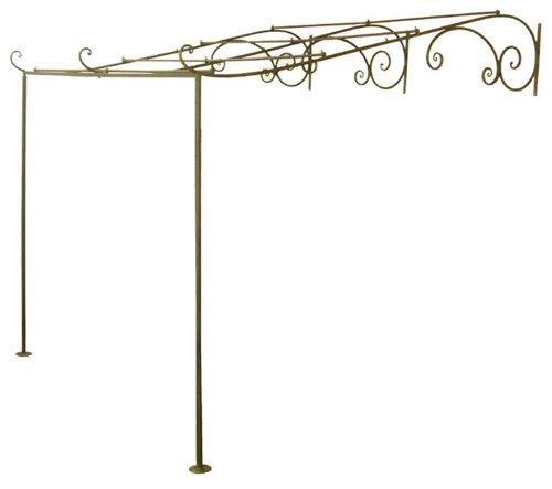 HFG Gartenlaube Terrassenüberdachung Pergola Metall Laube Breite 260 cm
