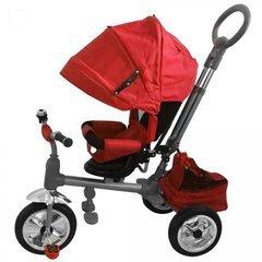 Triciclo Rosso a Spinta Luxury con Pedali LT857 per Bambini Sedile Girevole. Media Wave Store