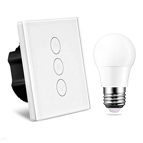 Dimmer Switch Alexa, Random 1 Gang 2A 400W Led Sensore Touch Panel funziona con Alexa / Google Home...