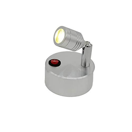 Faretto a LED Lampada da parete a LED a batteria senza fili Lampada da armadio a luce bianca calda...