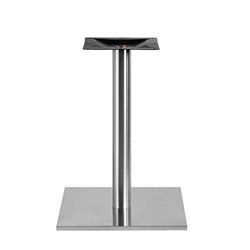 Edelstahl Tischgestell XL Single Quadrat 45x45x71cm Bistrotisch