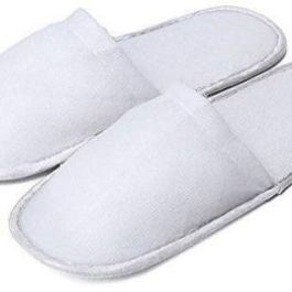 10 paia di pantofole usa e getta, da viaggio, per hotel, spa, per gli ospiti, di colore bianco