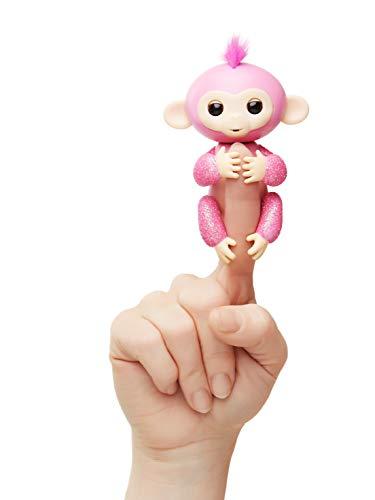 Fingerlings Glitzer Äffchen pink Rose 3764 interaktives Spielzeug, reagiert auf Geräusche, Bewegungen und Berührungen