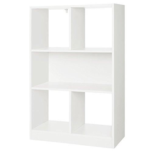 VASAGLE Libreria di Legno con Cubi Aperti e Ripiani, Scaffale Autoportante e Armadio da Esposizione,...