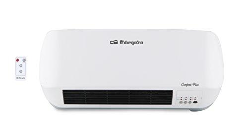 Orbegozo SP 5026 – Calefactor de baño Split con mando a distancia, 2000 W de potencia, elementos calefactables cerámicos PTC y 2 niveles de funcionamiento