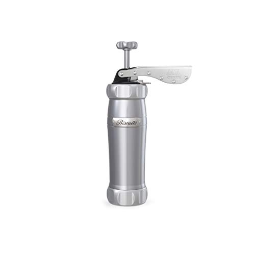 Marcato 08 01 10 Biscuits Cookie Press, Silver