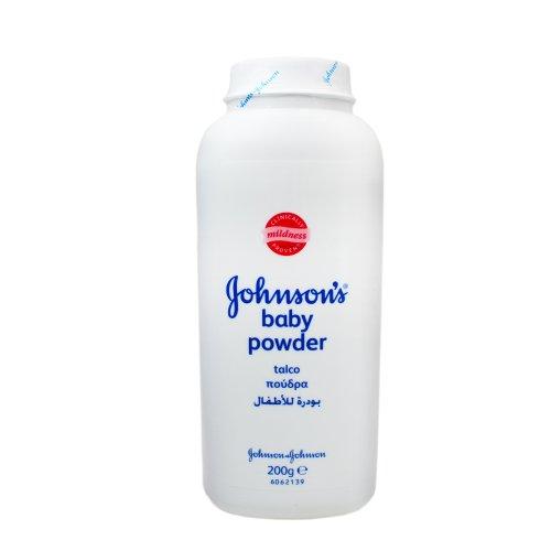 3x Johnson & Johnson Baby Puder, je 200g / beugt Hautrötungen vor, hält die Haut zart und trocken