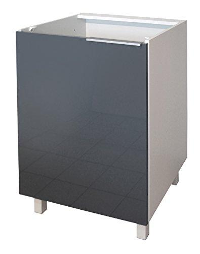 Berlenus CP6BG - Base componibile cucina a 1 anta, da 60 cm, colore: Grigio