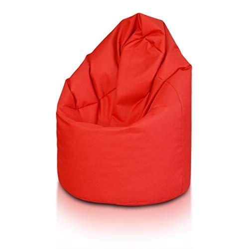 Bepouf Poltrona Sacco Puf Pouf Dimensioni 135x85 Poliestere Pieno (Rosso, Mega)
