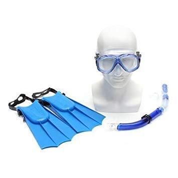 Ad Fresh Snorkel Set, Anti-Fog Swimming Goggles Mask Flippers Scuba Diving Snorkel Diving Combo Set