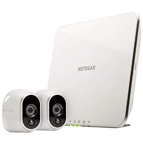 ARLO VMS3230 Sistema di Videosorveglianza Wi-Fi con Due Telecamere di Sicurezza senza Fili a Batteria, Hd, Visione Notturna, Interno/Esterno, App Android & Ios, Funziona con Alexa e Google Wi-Fi