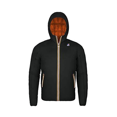 K-Way - Giacca JACQUES THERMO PLUS DOUBLE per bambino, modello impermeabile, tessuto traspirante - 991 - Black-Orange Pumpkin - 8Y: 8 anni (altezza 121-134 cm)