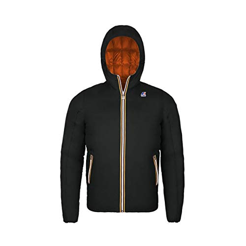 K-Way Jacques - Giubbotto da uomo Multicolore - Noir/Orange (991 - Black-orange Pumpkin) 6 Anni