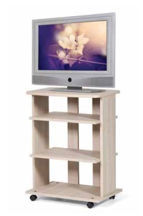 Azur line Carrello TV elde Tinta Olmo cm 60 x 45 x h 80,5 in Robusto nobilitato Piano Bordato...
